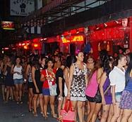 Bar girls on Soi 6 in Pattaya Thailand