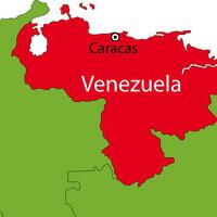 venezuela red map