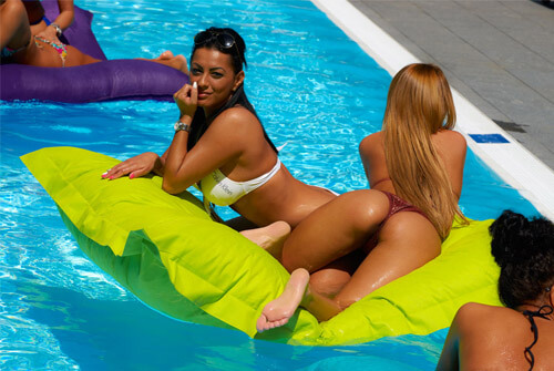 European prostitutes in pool at Austrian FKK sex club Wellcum