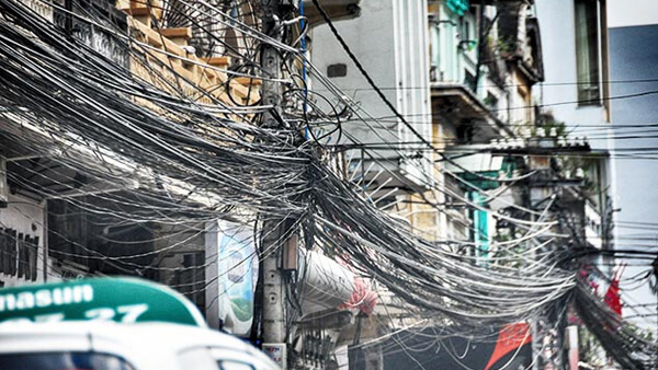 tangled wires in southeast asia