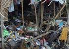 filthy slum in Asia