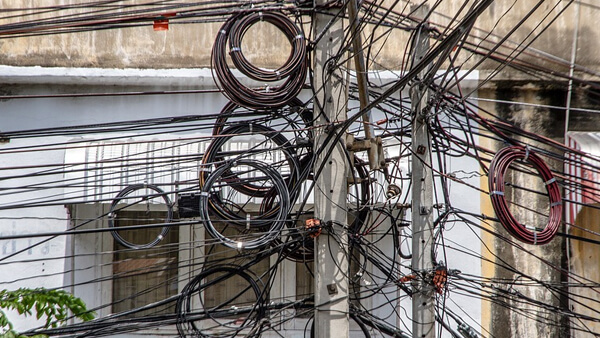 tangeled wires in southeast asia