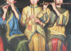 3 Asian chicks blow flutes